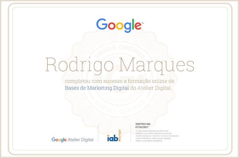 Imagem - Certificado Atelier Digital Google
